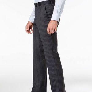 Tommy Hilfiger Slim Fit Pinstripe Wool Blend Suit